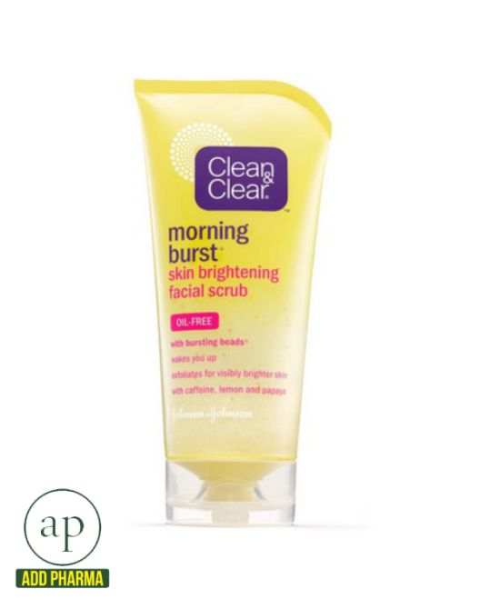 Clean & Clear Morning Burst Skin Brightening Facial Scrub - 5 oz