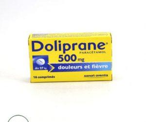 Doliprane Paracetamol 500 mg - 16 Tablets