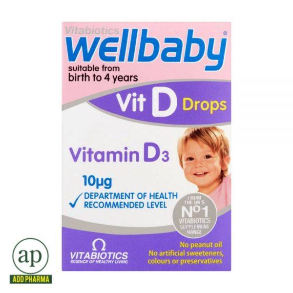 Vitabiotics Wellbaby Vitamin D Drops - 30ml