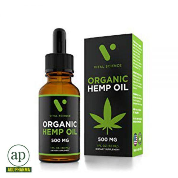 Vital Science Organic Hemp Oil - 500mg