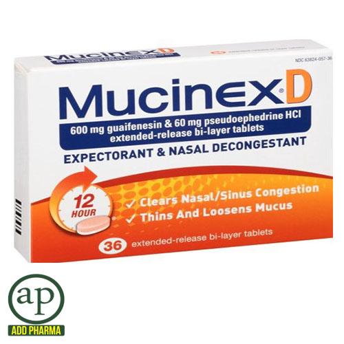 Mucinex D Expectorant & Nasal Decongestant - 36 Tablets