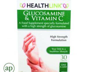 HealthLink Glucosamine 1500mg & Vitamin C - 30 Tablets
