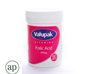 Valupak Folic Acid 400mcg - 90 Tablets