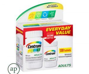 Centrum Adult Multivitamin / Multimineral Supplement - 130 Tablets